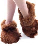 Alpaca Slippers Adult Multi brown