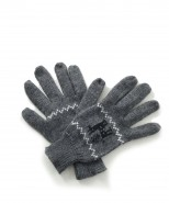 Alpaca Gloves Motif Dark Grey