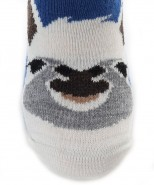 Alpaca Ged Ankle Socks Blue