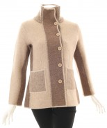 Baby Alpaca Patches Coat Natural