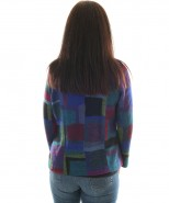 Brushstrokes Alpaca Cardigan In Royal Blue