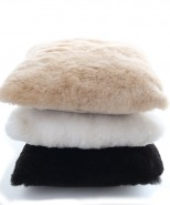 Alpaca Fur Cushion Cover Black