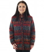 The Alpaca Collection Eve Lined Jacket Red