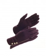 Powder Wool Gloves Purple