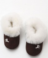 Alpaca & Suede Slippers Rose