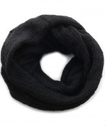 Baby Alpaca Black Snood