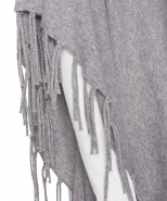 Brax Fringed Poncho Grey