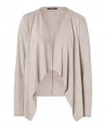 Brax Velvet Waterfall Jacket Taupe