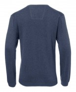 Brax Vico V Neck Jumper Denim Blue