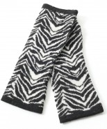 The Alpaca Collection Fingerless Gloves Zebra Print