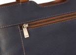 Nova 829c Leather Shoulder Handbag Navy & Chestnut