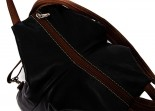 Nova Leather Back Pack Black & Tan Style - 982