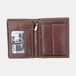 Primehide Leather RFID Trifold Wallet 4153 Brown