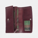 Primehide Italian Leather Purse Bordeaux 9001
