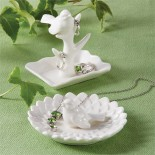 Ceramic Ring Holder With Bird
