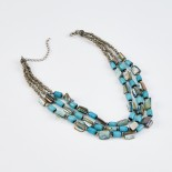 Dante Turquoise Beaded Necklace