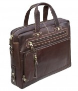 Primehide 2 Handle Briefcase Brown 952