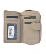 Primehide Windermere Purse Double Zip Taupe 22811