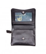 Primehide Soft Touch Small Curve Purse Black 2316