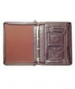 Primehide Zip Around Folder Brown 890