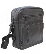 Primehide Multi Zip Flight Bag Black 949