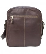 Primehide Multi Zip Flight Bag Brown 949