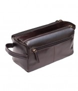Primehide Washbag Leather Brown