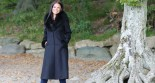 The Alpaca Collection Cresida Long Fur Trim Coat Black