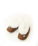 Alpaca & Suede Childrens Slippers