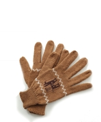 Alpaca Gloves Motif Tan